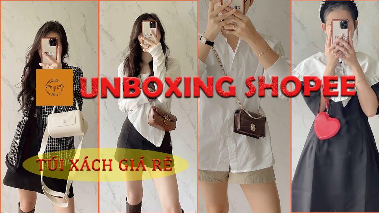 [ UNBOXING SHOPEE ] Tổng hợp Unbox Túi Xách Nữ , Túi Mini , Ví xinh… #1  – Shopee Haul Tiktok P.55
