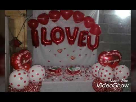 Decoracion con globos para san valentin y para aniversario for Decoracion para aniversario