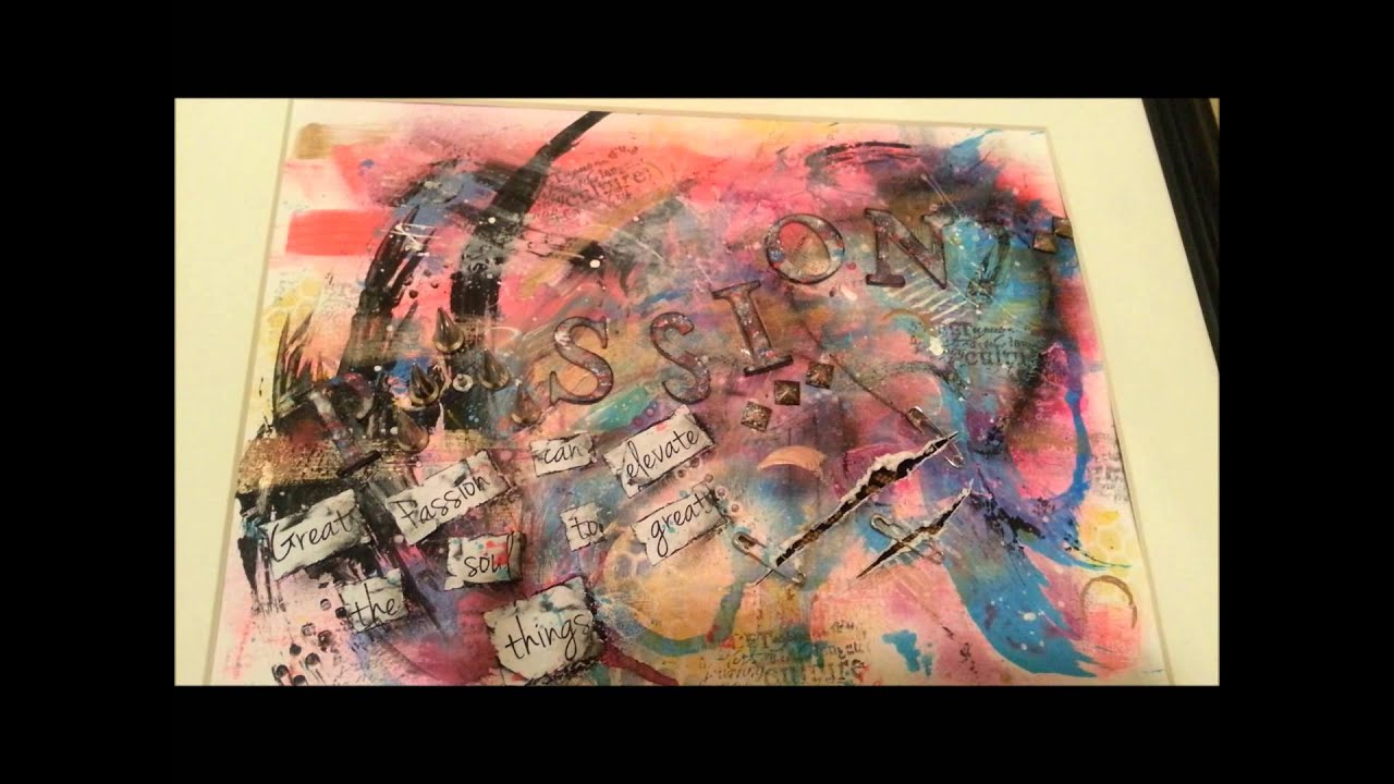 Passion Mixed Media Art Journal Abstract Realism