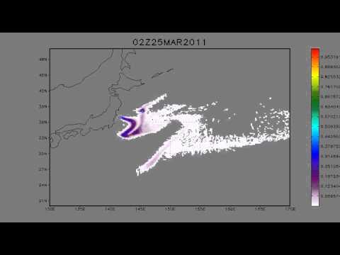 22.03.2011. Fukushima. Tracer transport. 5 days forecast.