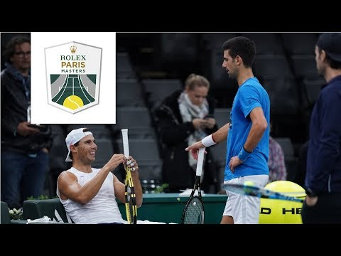 2019 Paris Open - Djokovic and Nadal Practice Together [I would pay to watch this live!]