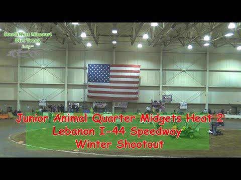 Junior Animal Quarter Midgets Heat 2  I 44 Speedway Winter Shootout 1 20 2018