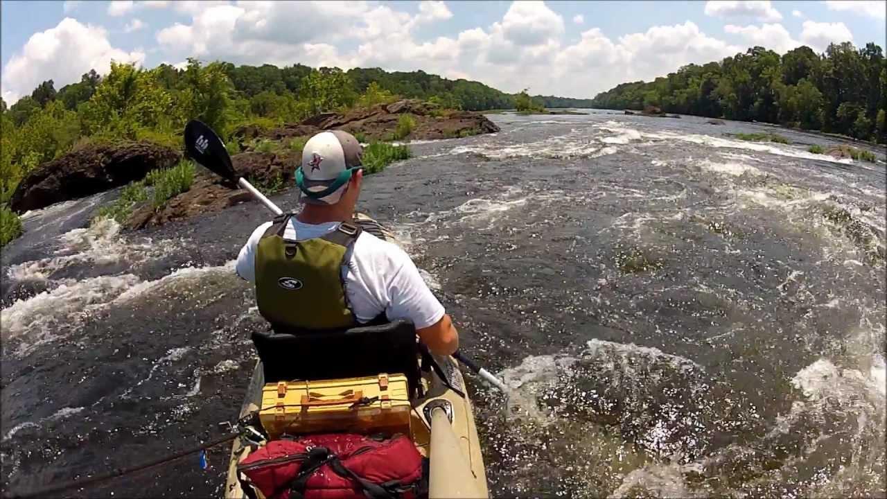 Coosa river kayak bass fishing youtube for Bass fishing kayak