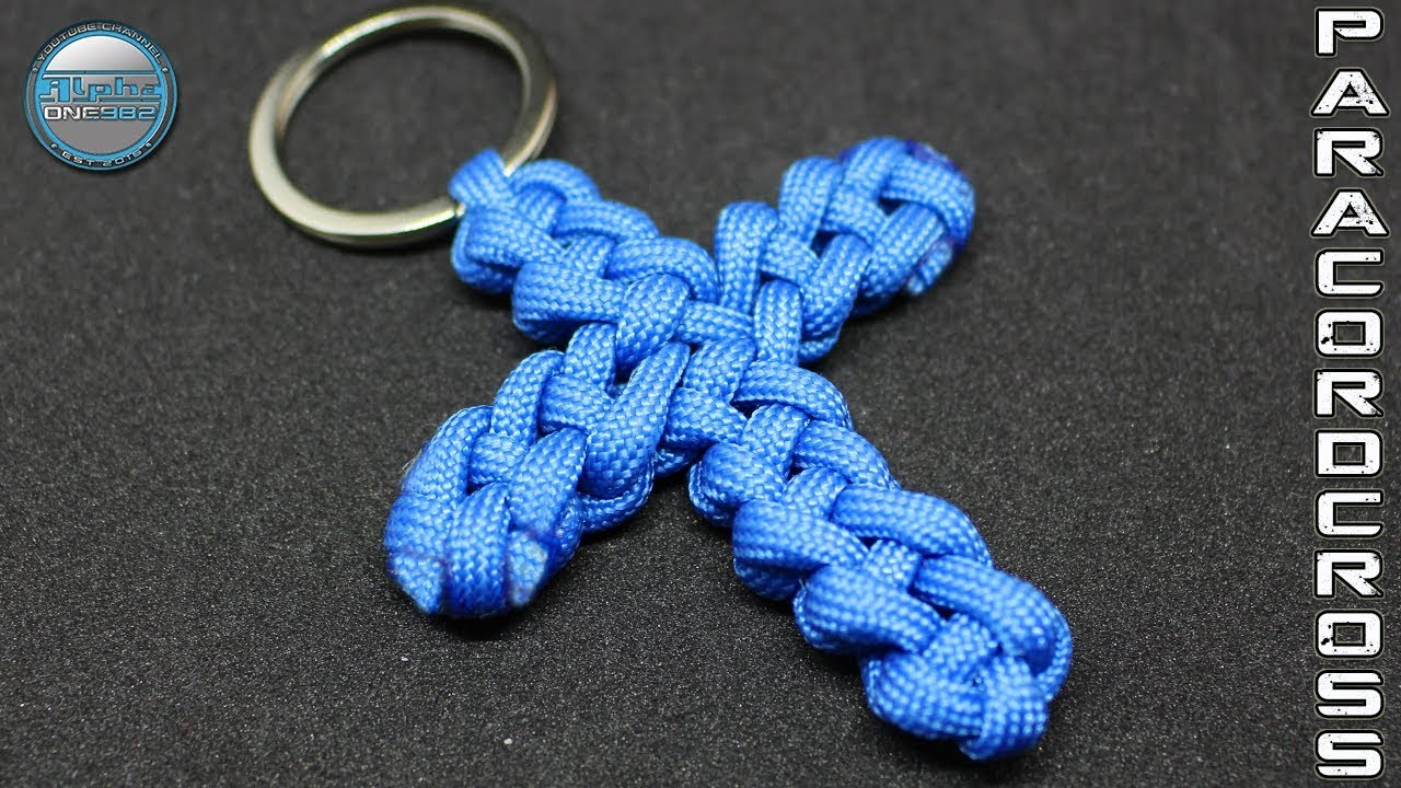 Paracord Cross How To Make Vertical Crown Knot Square Knot