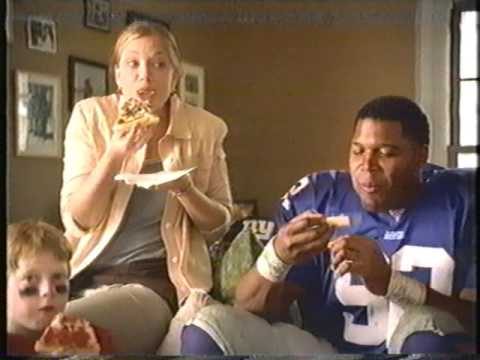 Michael Strahan Rich Gannon Chris Hovan Pizza Hut Commercial
