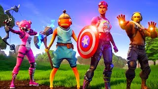 **NUEVO** THANOS vs VENGADORES FORTNITE Battle Royale