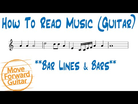 How to Read Music (Guitar) - Bar Lines & Measures