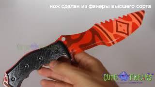 Смотреть видео Видео обзор Охотничий нож Убийство (Slaughter) - настоящий деревянный нож из дерева онлайн