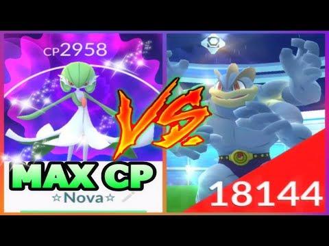 POKEMON GO 2958 CP GARDEVOIR VS MACHAMP RAIDS HOW GOOD IS IT? GEN 3 GYM BATTLES