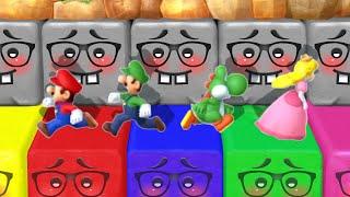 Mario Party 10 MiniGames - Mario Vs Yoshi Vs Luigi Vs Peach (Master Cpu)