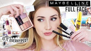 FULL FACE USING ONLY MAYBELLINE MAKEUP !!