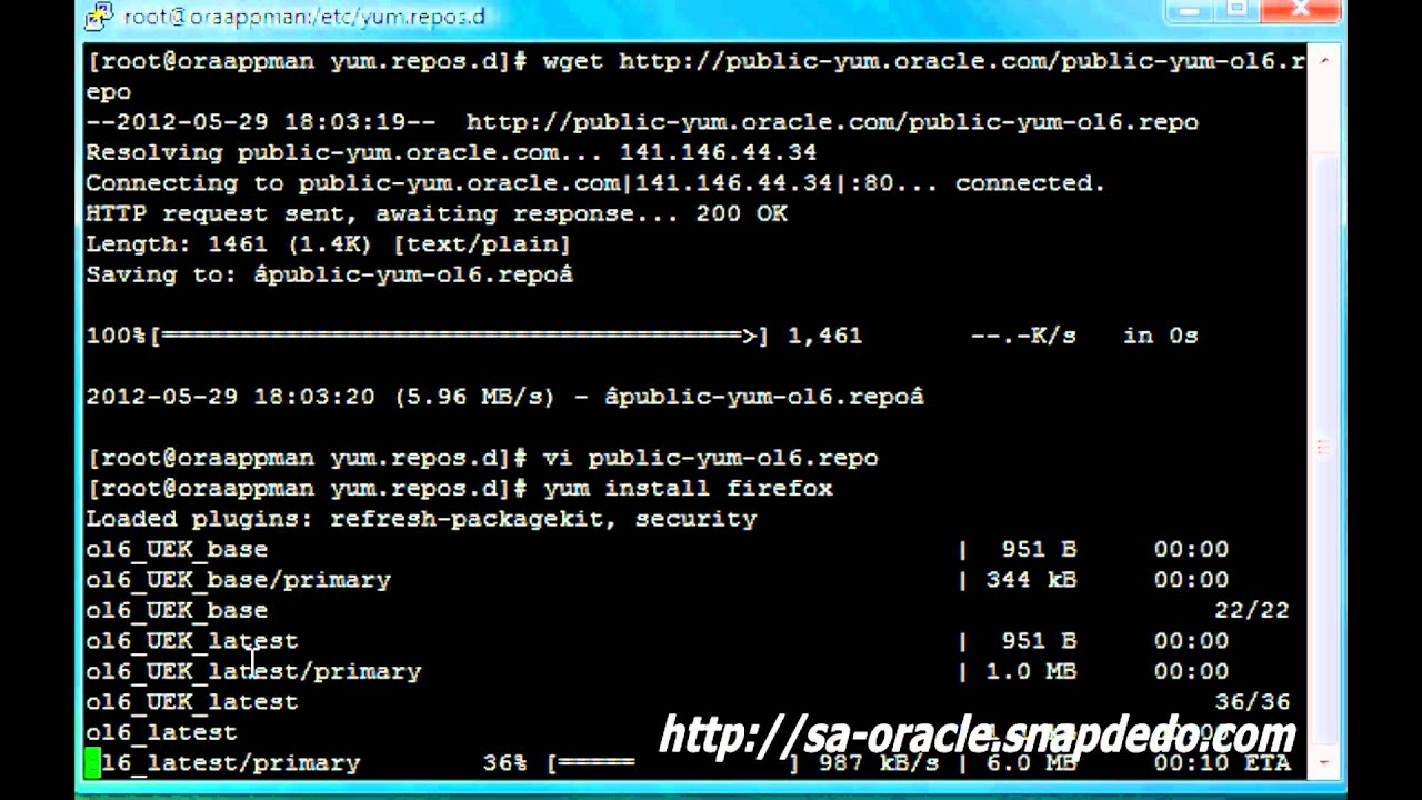 Configure Oracle Linux 6 yum repository