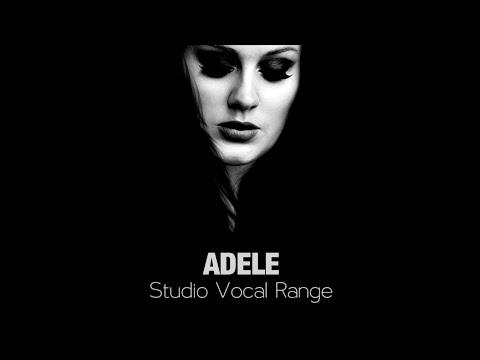 Adele: Studio Vocal Range (B2 - E6)