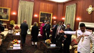 Call On-  The President of Afghanistan  at  Rashtrapati  Bhavan  on  28-4-2015