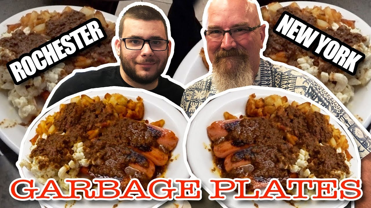 Eating Garbage Plates in Rochester, NY ???????? Surprising an Awesome Fan!