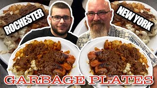 Eating Garbage Plates in Rochester, NY  Surprising an Awesome Fan!