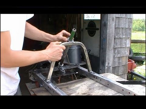how to make a racing lawn mower steering