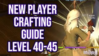 FFXIV 2.57 0621 New Player Crafting Guide Level 40 to 45