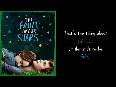 The Fault In Our Stars Quotes (TFIOS) | Augustus Waters and Hazel Grace Quotes
