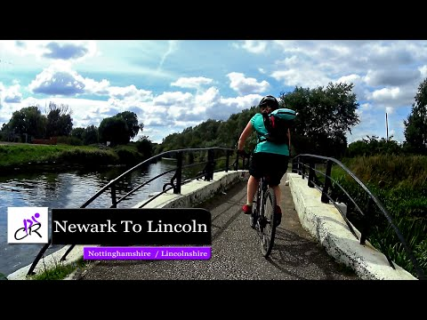 Riding the NCN 64 from Newark to Lincoln video 2016