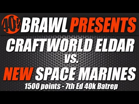 40kBrawl! Iron Hands VS Eldar 1500 UK GT practice Match