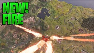 *NEW* SKYDIVING FIRE SEASON 3 BATTLEPASS GAMEPLAY! - Fortnite Battle Royale Epic Funny Moments #19