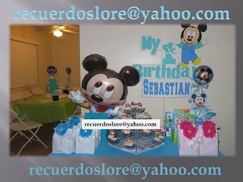 Centro de Mesa Mickey Mouse (para bautizo o primer año)