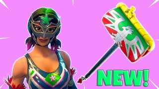 NEW! LUCHADOR SKINS PICKAXE SOUND TEST! Fortnite Battle Royale