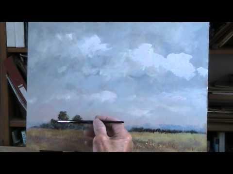 Painting a sky tutorial. Acrylic
