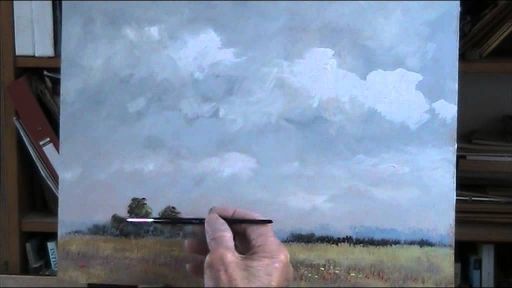 Painting a sky tutorial acrylic youtube for How to learn to paint with acrylics