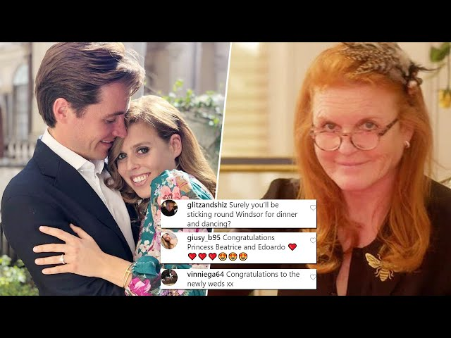 Sarah Ferguson shares a confusing post - just hours after Beatrice\'s royal wedding ceremony
