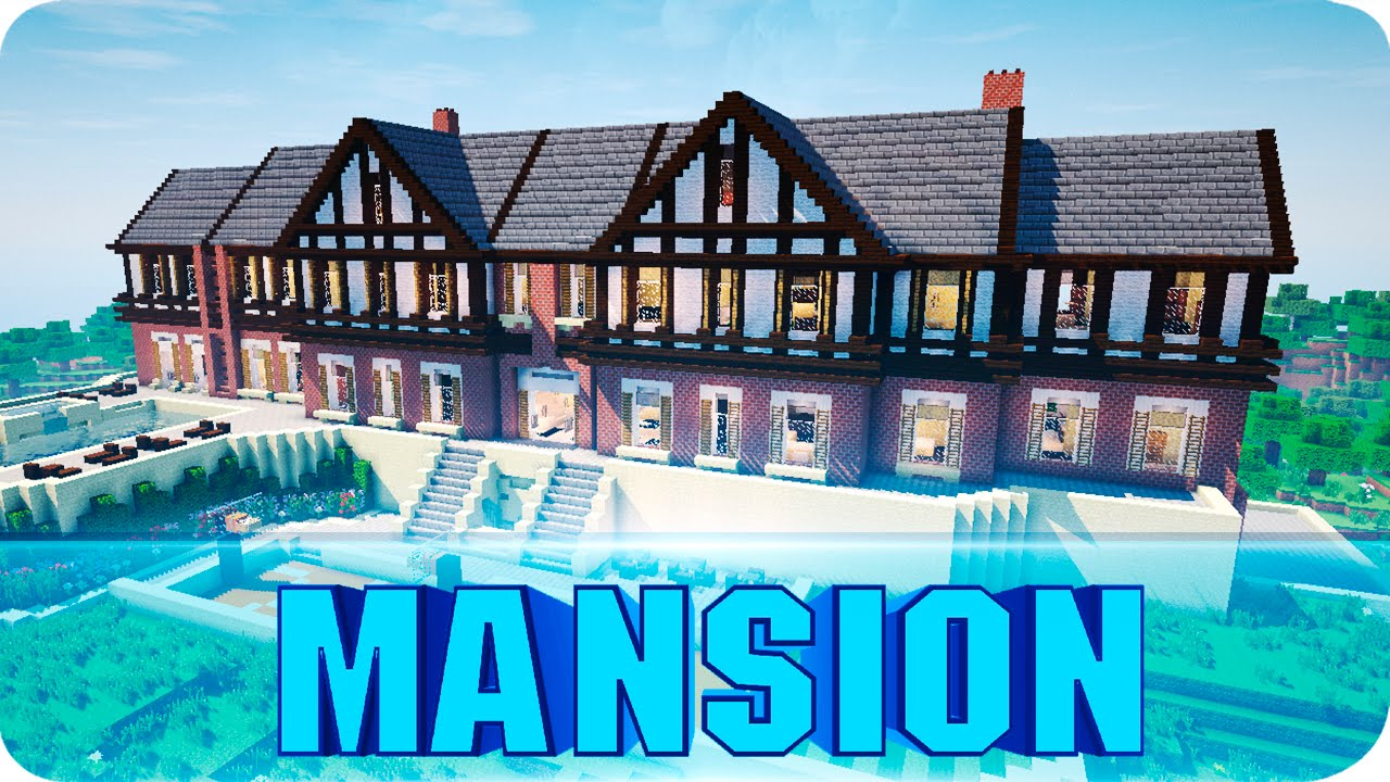 Minecraft - Huge Tudor Mansion - Epic Minecraft House Map w/ Download