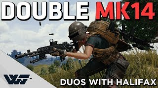 DOUBLE MK14 - Hunting airdrops with Halifax (duos) - PUBG