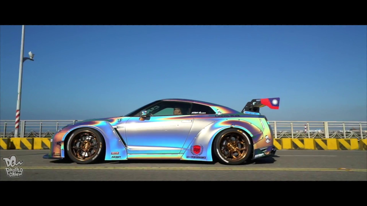 liberty walk nissan gtr r35 lb in taiwan youtube. Black Bedroom Furniture Sets. Home Design Ideas