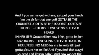 the best love song tpain ft chris brown lyrics