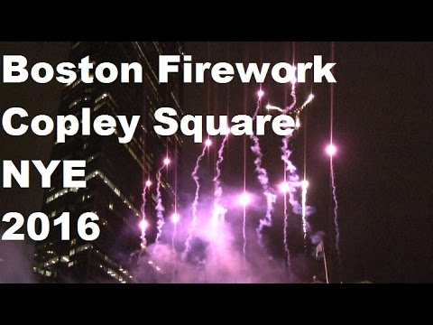 Boston fireworks, Copley square new year's eve 2016 #travel #copleysquare #NYE