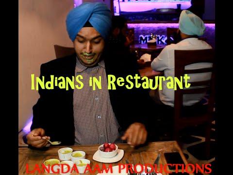Indians in Restaurant