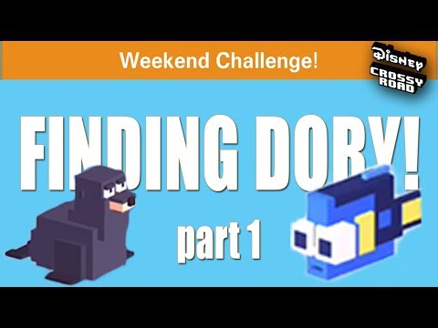LOOK AT BABY DORY! - Disney Crossy Road FINDING DORY Weekend Challenge - Pt. 1