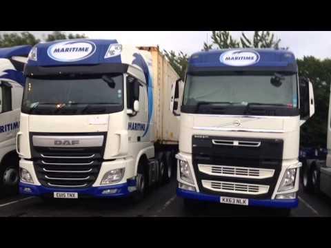 7 Maritime trucks gathering at  Tamworth services