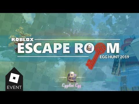 Roblox Escape Room 2019 Egg