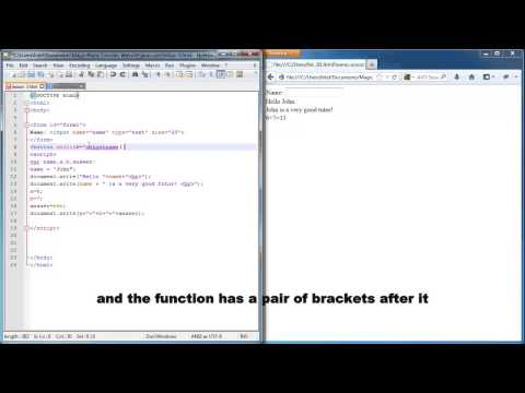 Javascript lesson 3 - accepting input from user using message box or html form
