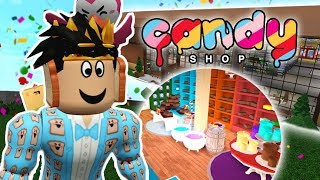 BUILDING A NEW BLOXBURG CANDY STORE IN MY MALL... expensive candy!