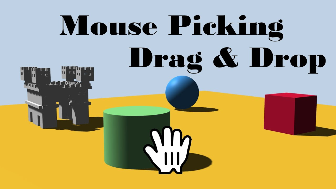three.js Raycaster - Tutorial for mouse picking / drag & drop