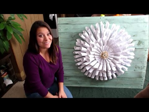 How to make a Book Page Wreath for under $10