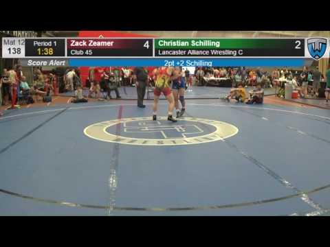 211 Junior Men 138 Zack Zeamer Club 45 vs Christian Schilling Lancaster Alliance Wrestling C 4141847