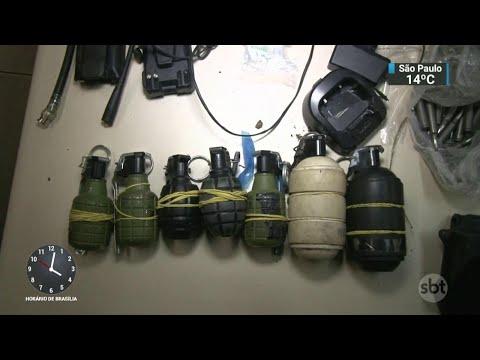 Polícia prende criminosos armados que tentavam fugir de facção rival | SBT Notícias (22/06/18)