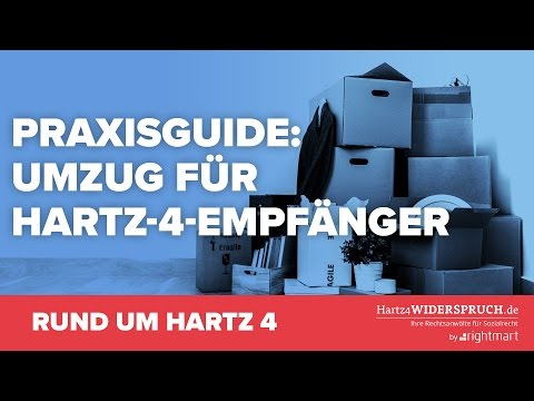 Praxisguide für Hartz-4-Empfänger: Alles zum Thema Umzug