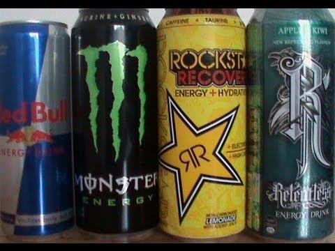 Redbull vs Monster vs Rockstar vs Relentless Energy Drinks.