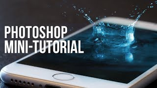 Photoshop Mini-Tutorial: Cell Phone Splash