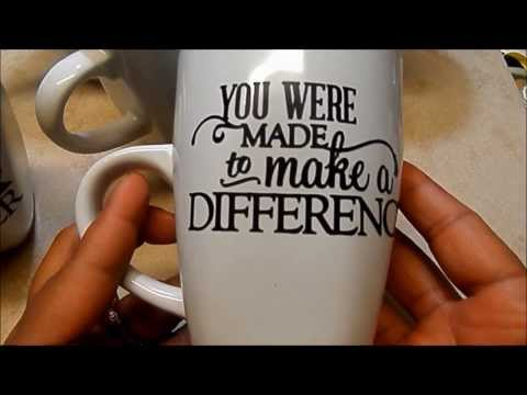 TUTORIAL: VINYL MUGS/CRAFT FAIR/TEACHER GIFTS